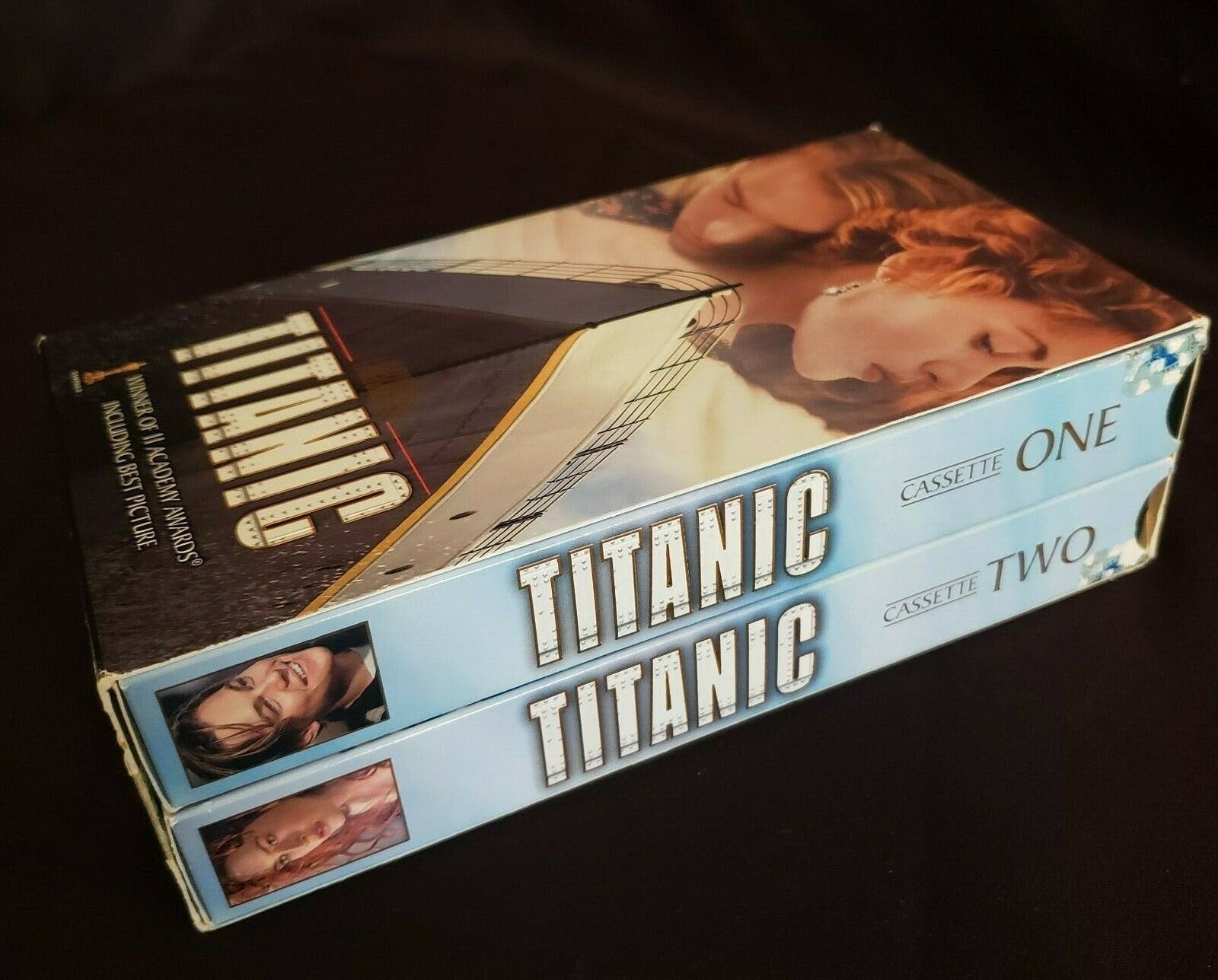 "The ""Titanic"" VHS set (which features two cassettes)"