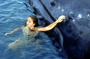 Neri with her whale friend Charlie