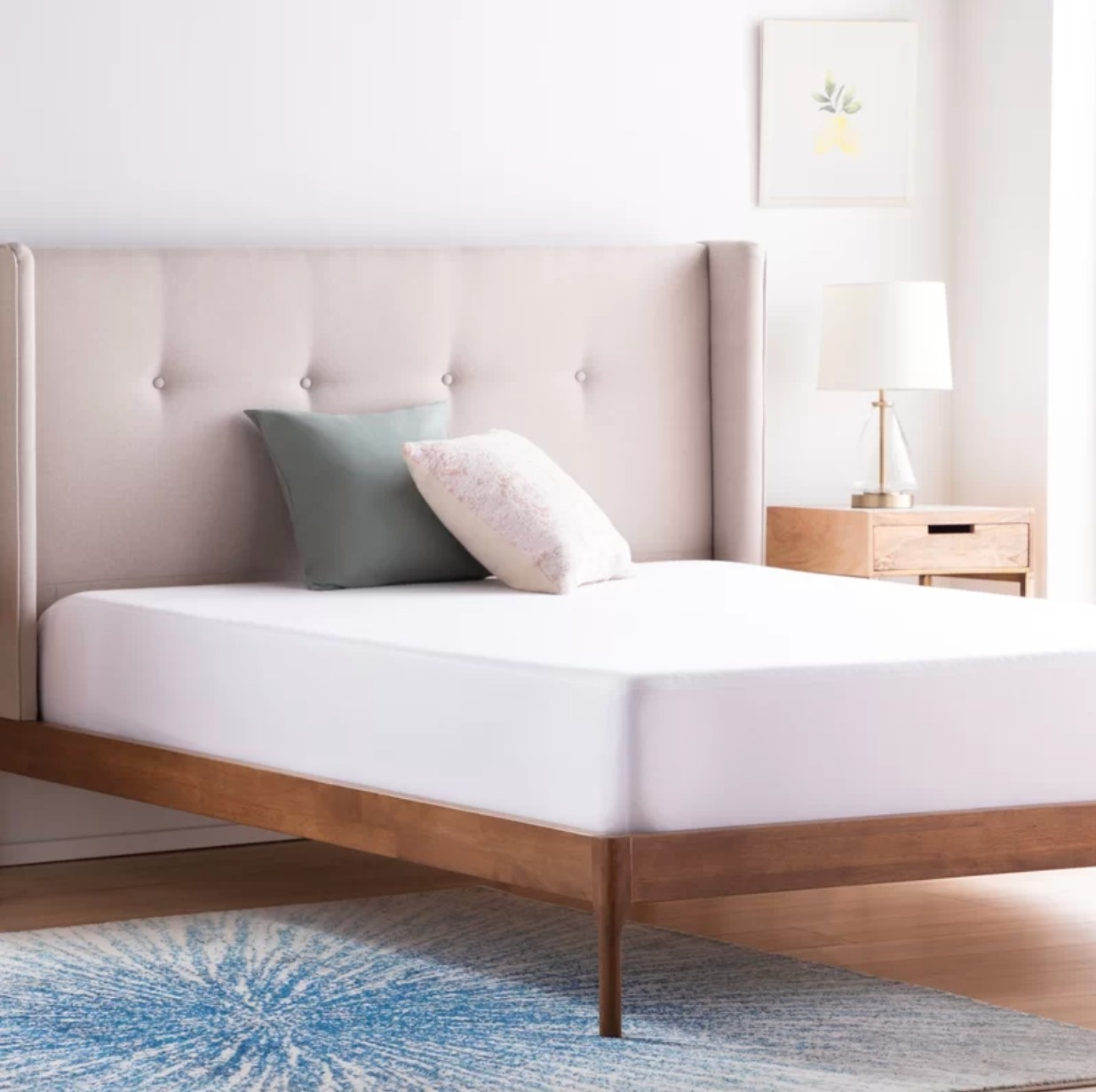 The mattress protector being used on a bed