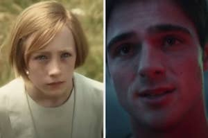 """Saoirse Ronan as Briony in """"Atonement"""" and Jacob Elordi as Nate in """"Euphoria"""""""
