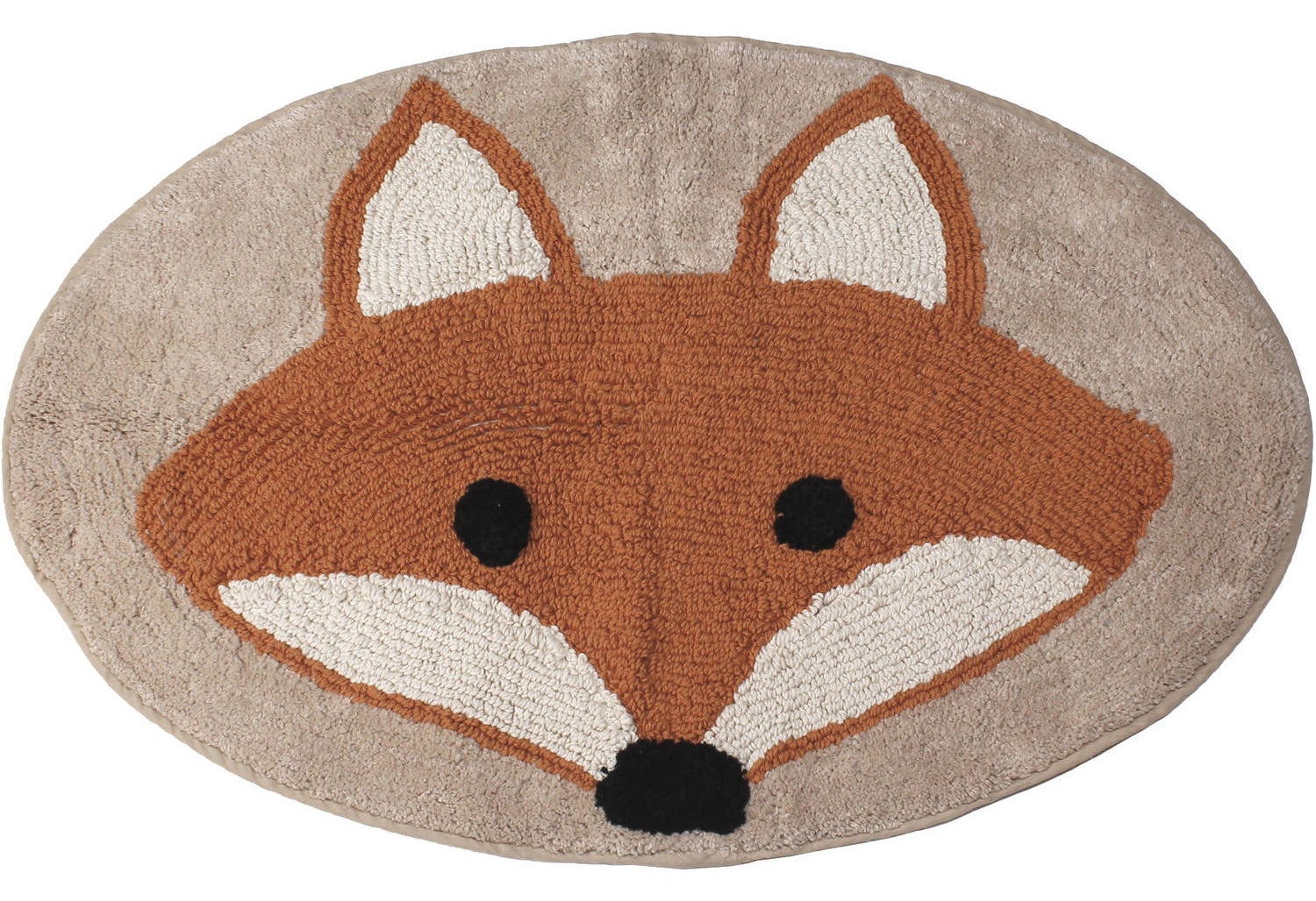 An animated fox bathroom mat