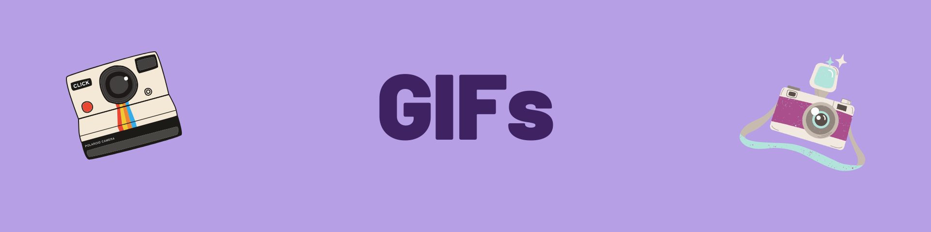 "A purple banner says ""GIFS"""