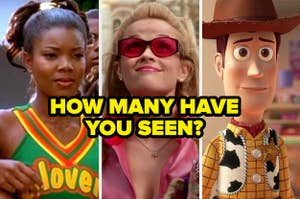 "Isis from ""Bring It On,"" Elle from ""Legally Blonde,"" and Woody from ""Toy Story"""