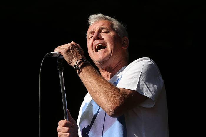 Daryl Braithwaite singing at a concert