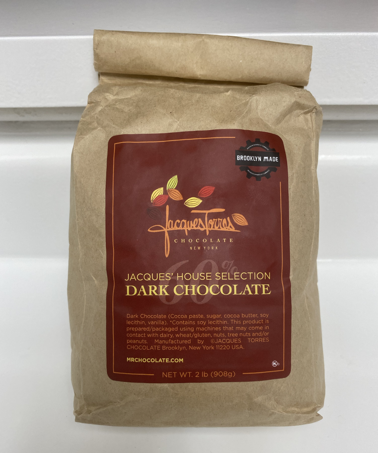 Jacques Torres' dark chocolate