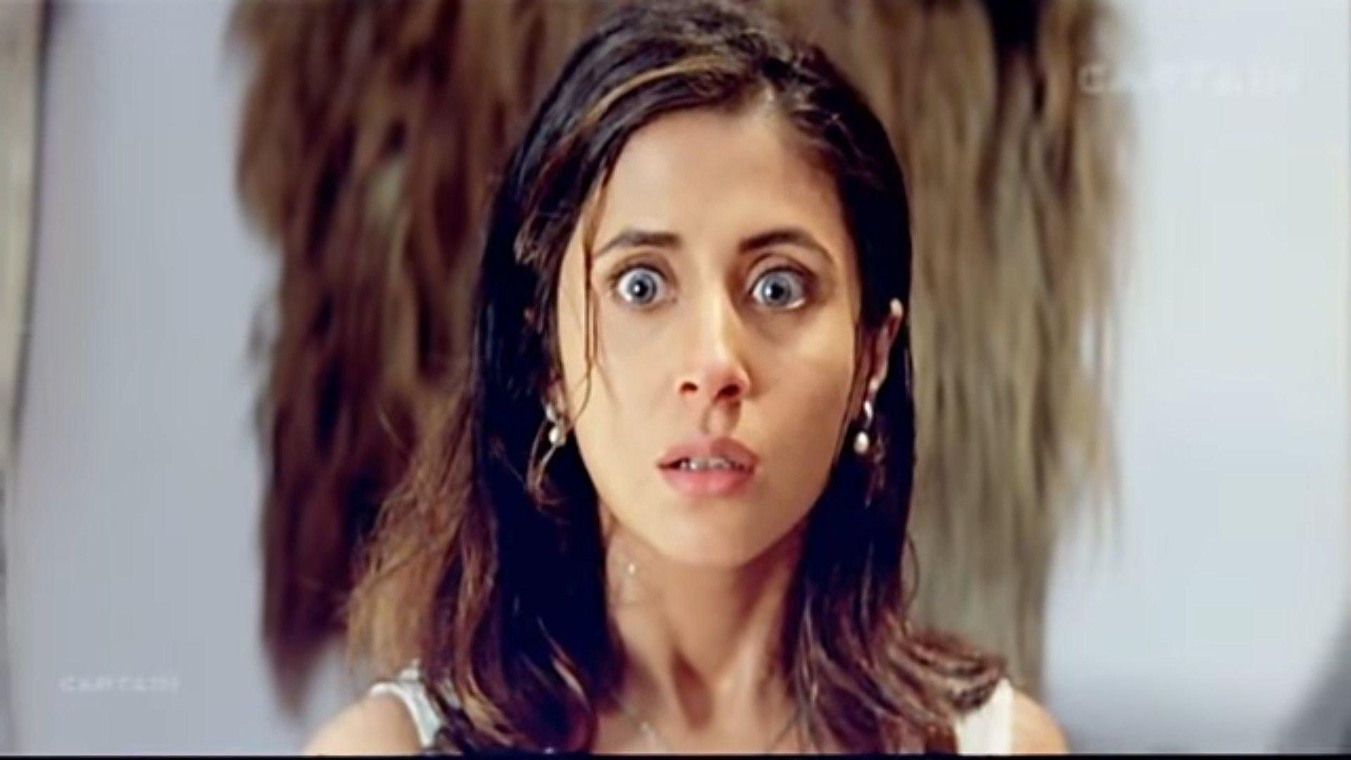 Urmila Matondkar looks shocked in a still from the movie kaun