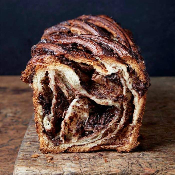Thick sliced of chocolate babka from Breads Bakery