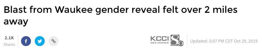 Blast from Waukee gender reveal felt over 2 miles away