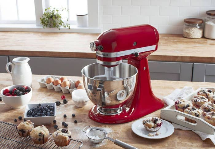 The red KitchenAid