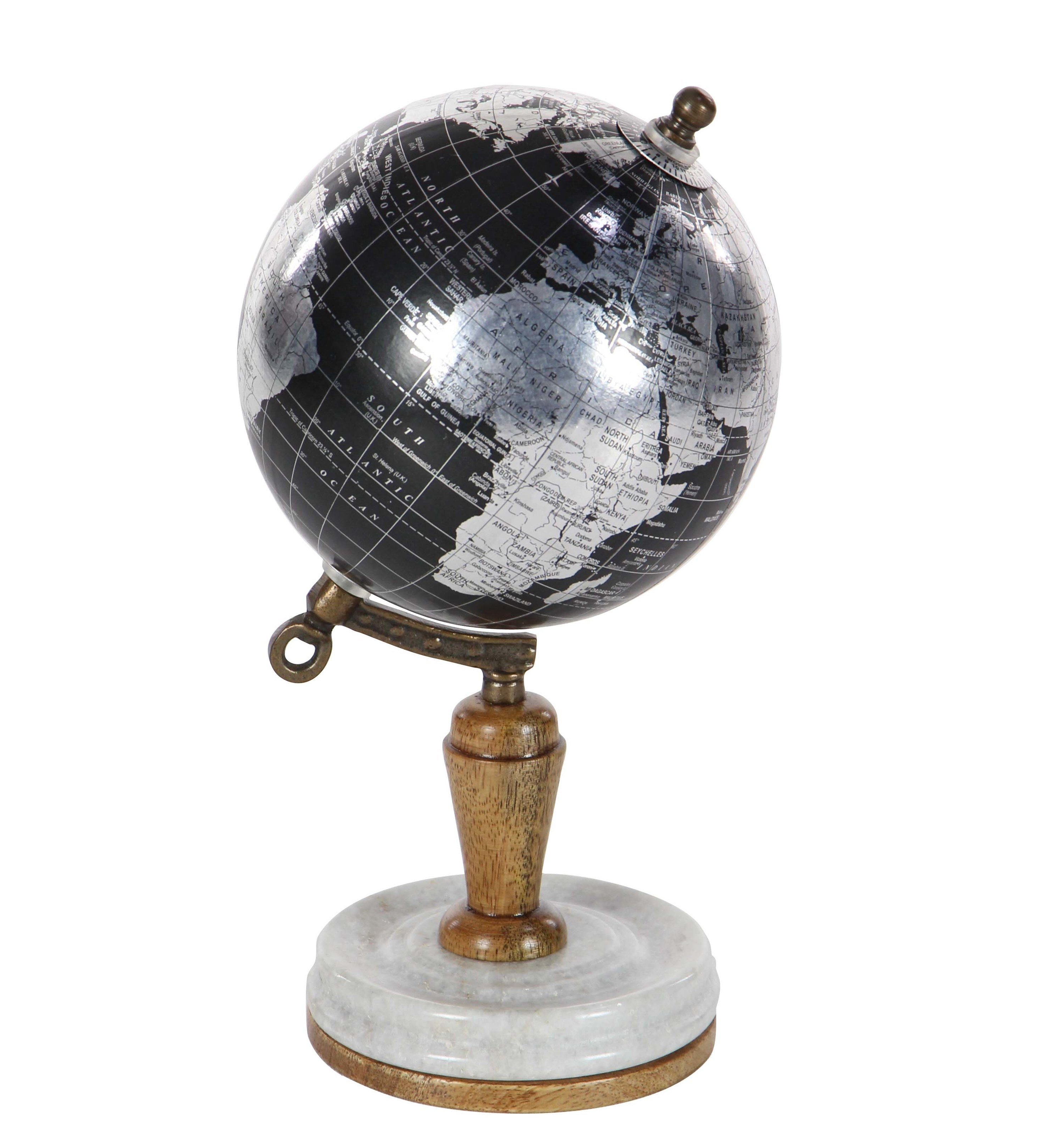The black and silver globe