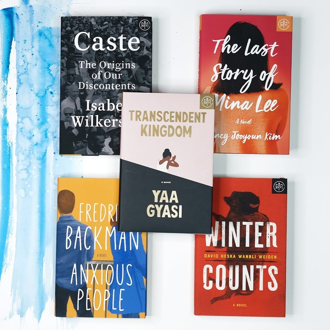 five of book of the month's book choices