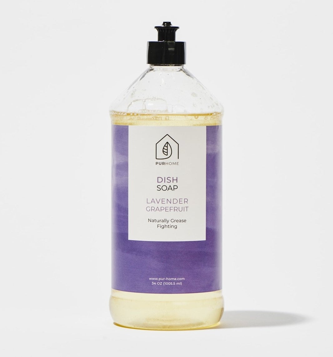 A bottle of the soap