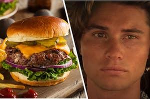 "Cheeseburger and John B. from ""Outer Banks"""