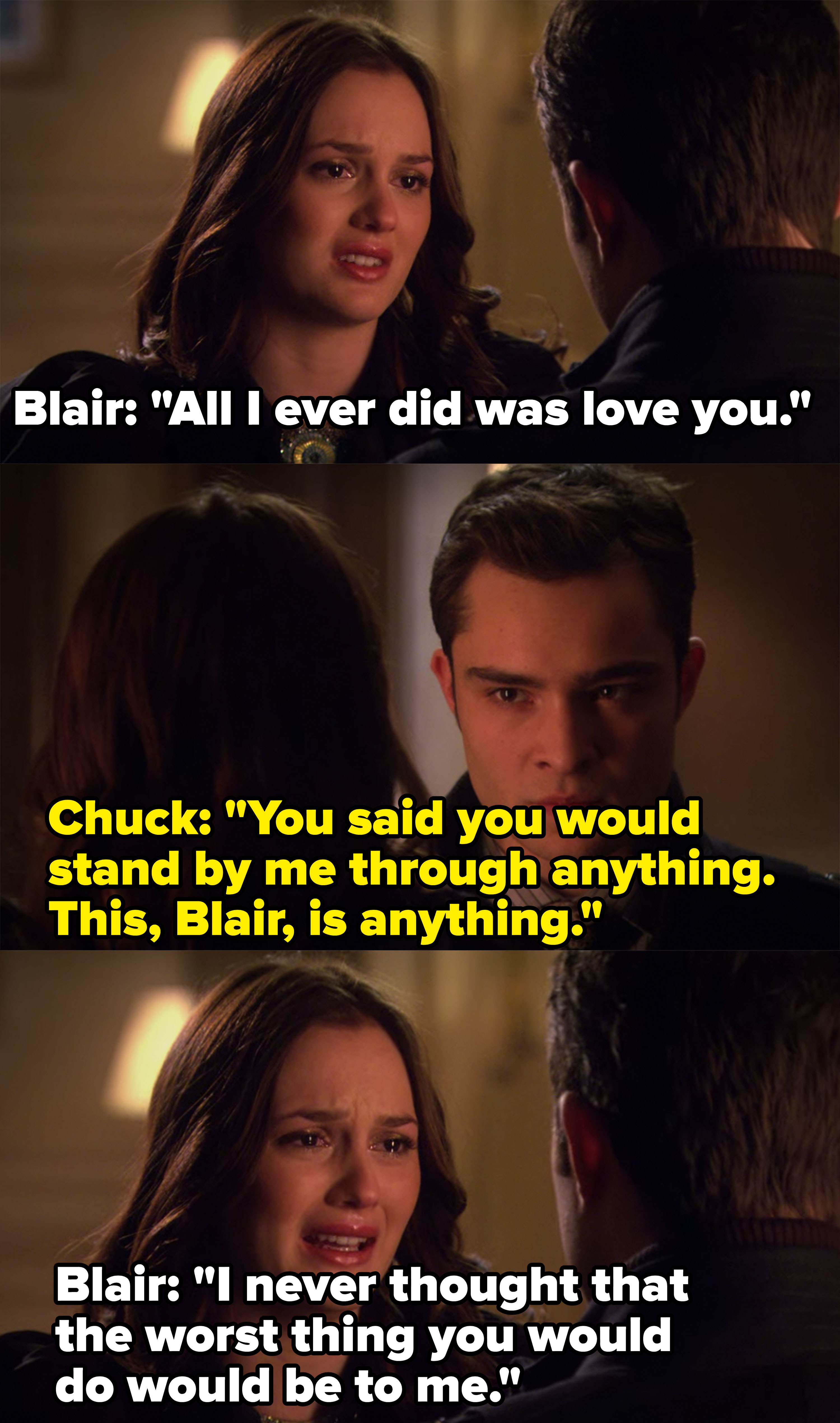 Blair says she never thought the worst thing Chuck did would be to her