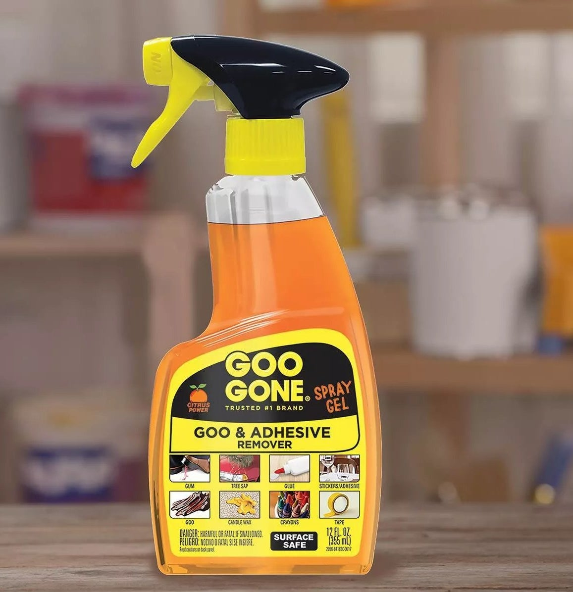 Goo Gone Spray Gel goo and adhesive remover for gum, goo, tree sap, candle wax, glue, crayons, stickers, and tape
