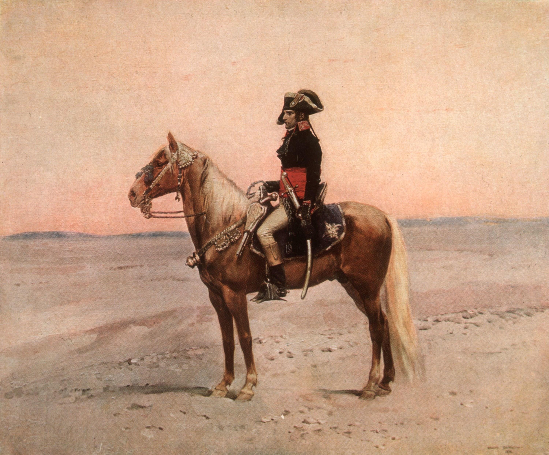 Napoleon riding a horse