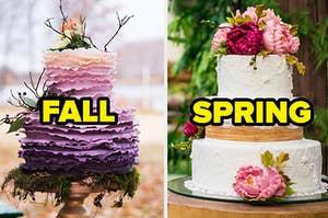 Wedding cakes.