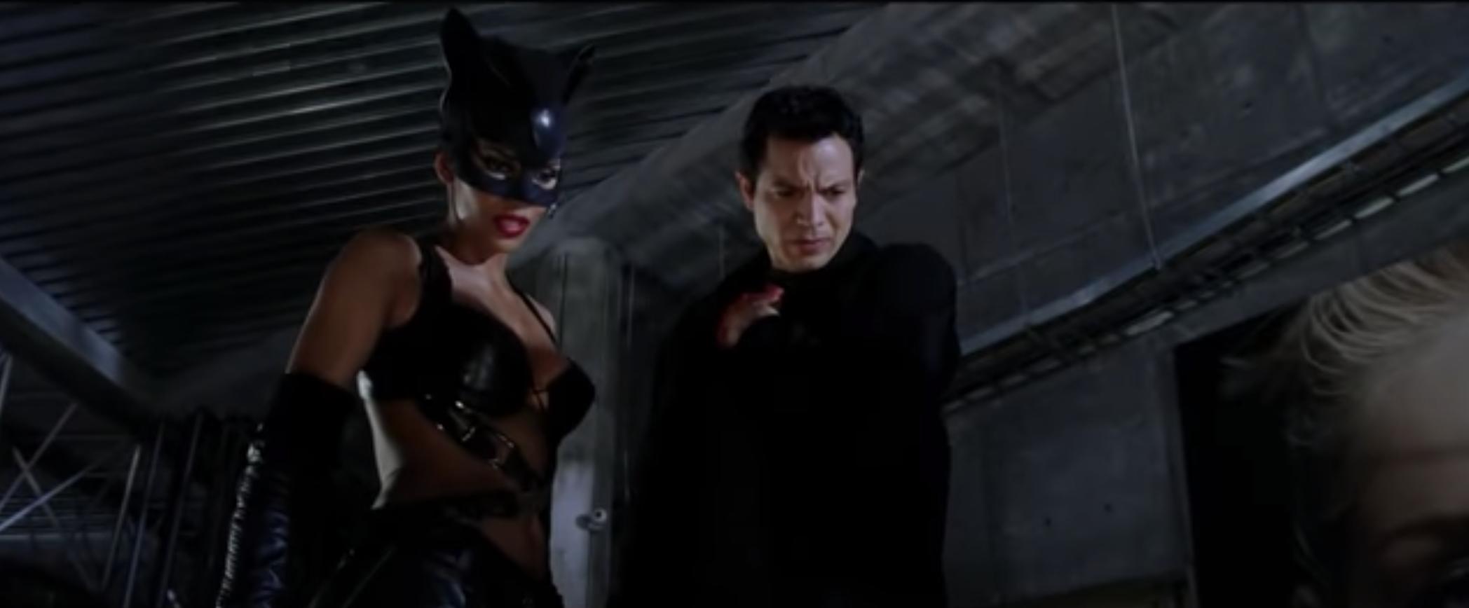 Halle Berry and Benjamin Bratt in Catwoman