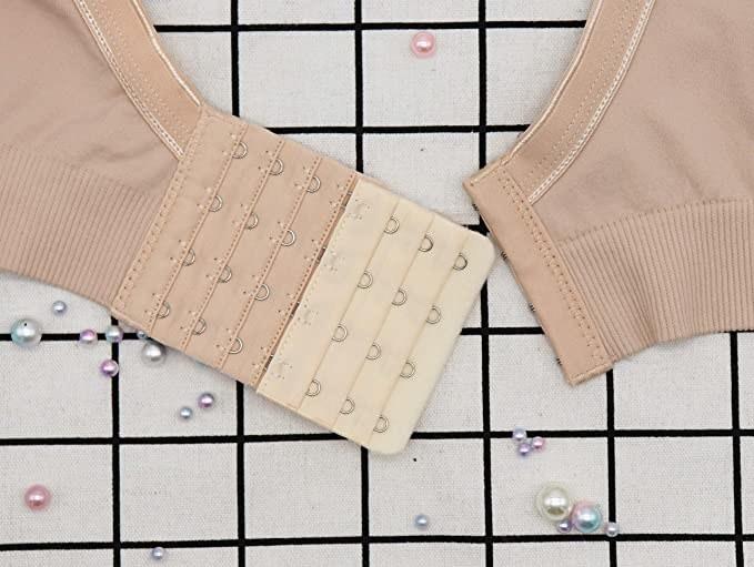 A bra extender hooked into a bra