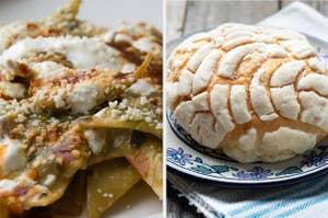 Chilaquiles和concha