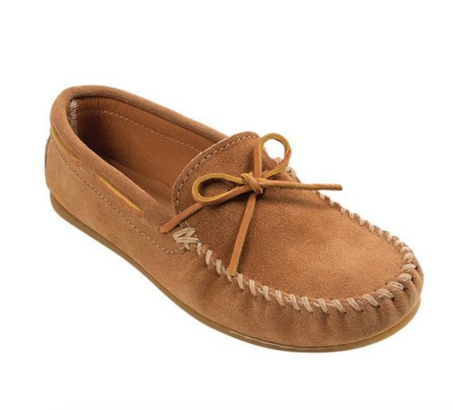 the brown moccasins