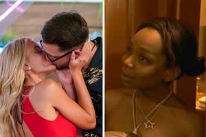 Mackenzie from Love Island kissing a new guy