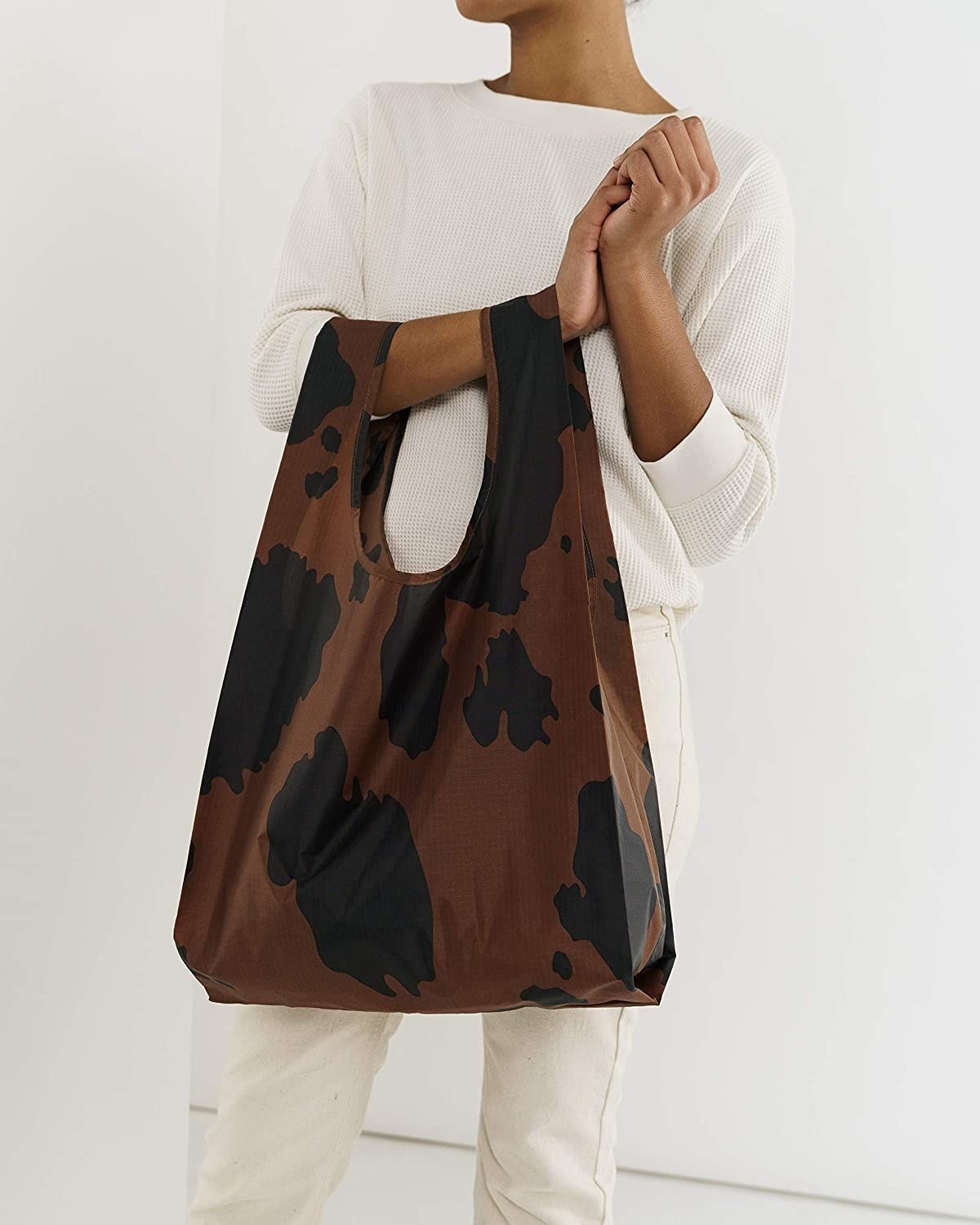 Brown and black spotted reusable bag