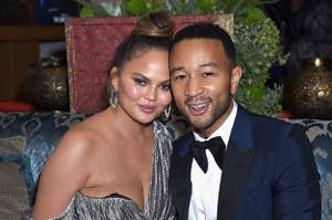 Chrissy Teigen and John Legend smiling together
