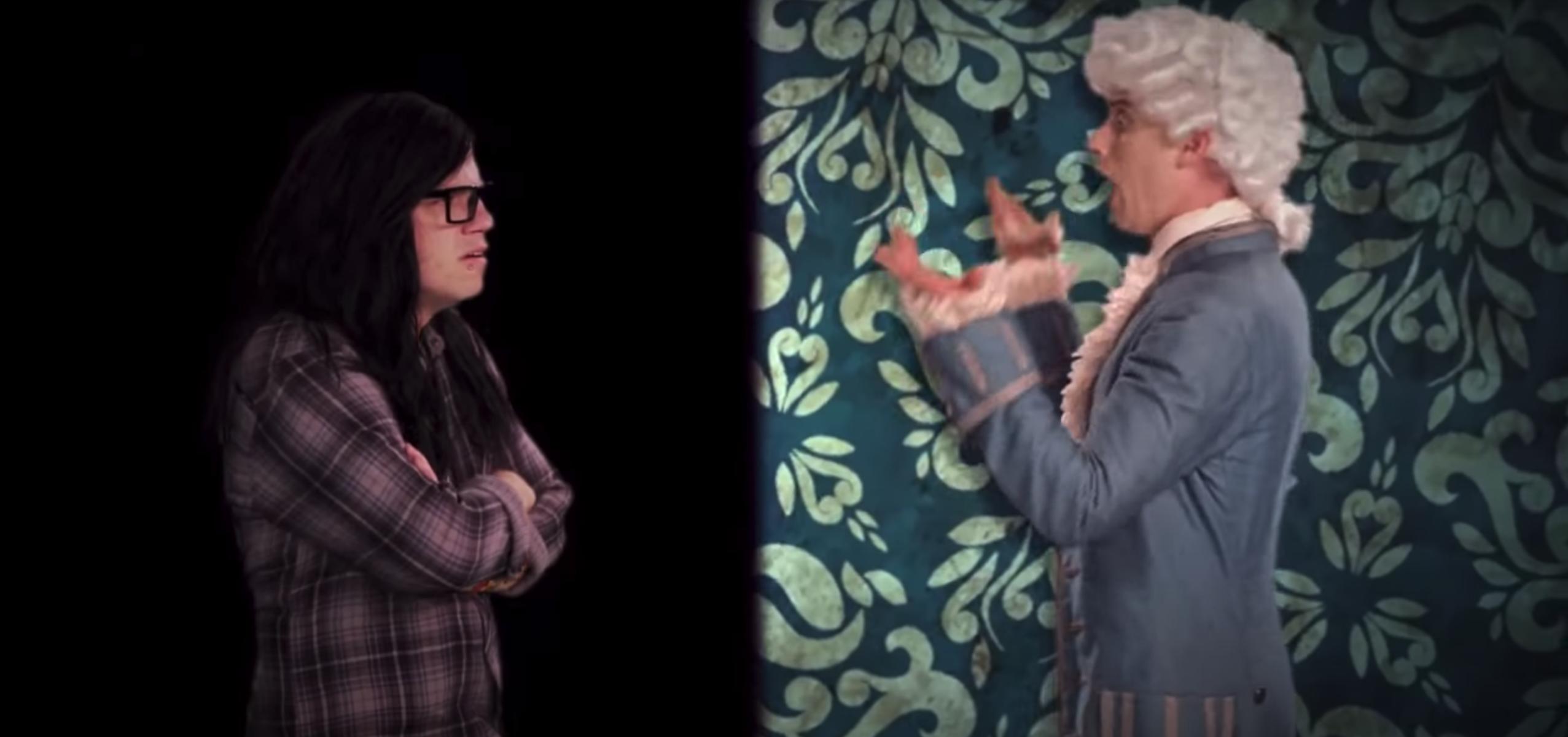 Skrillex and Mozart battling it out via rap