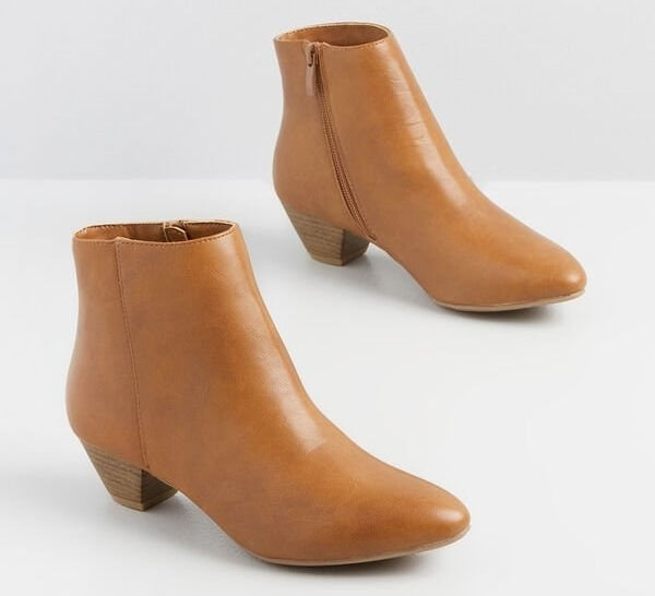 The tan ankle boots