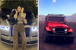 Kylie Jenner and a jeep.