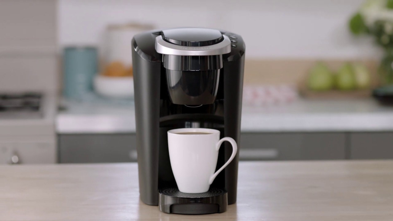 The single-serve coffee machine in black