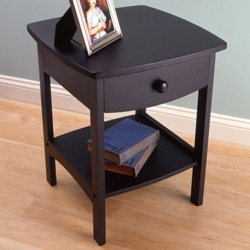 The nightstand in black