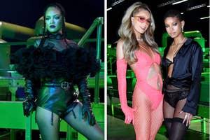 Rihanna, Paris Hilton, and Willow Smith backstage