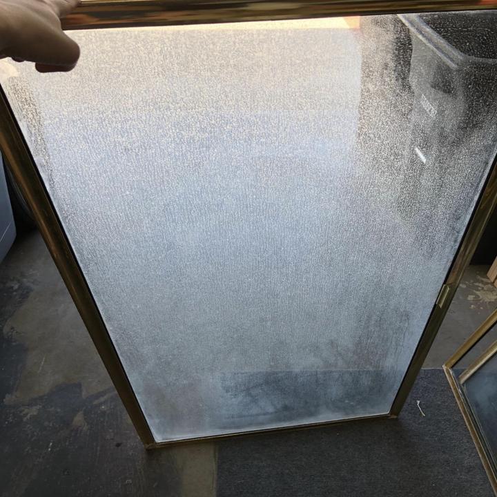 reviewer photo of glass door looking foggy
