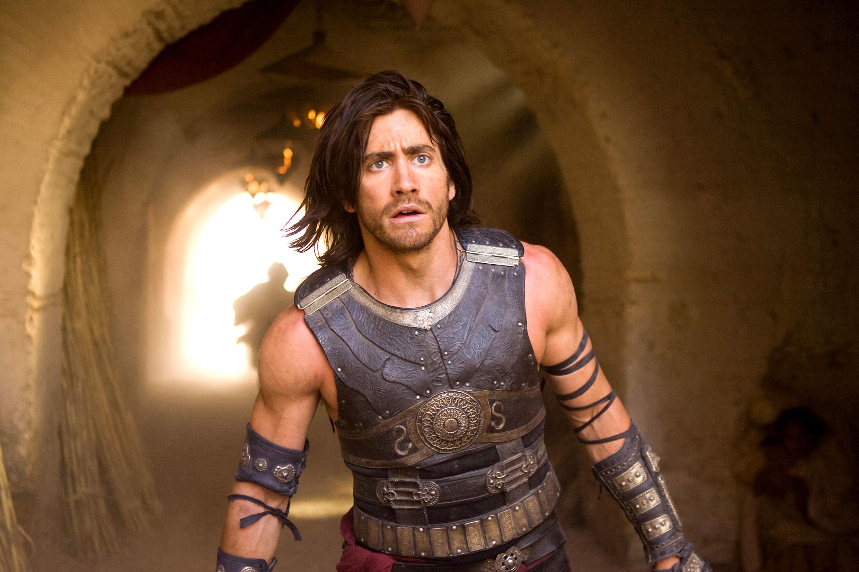 Jake Gyllenhaal as Dastan looking shocked.