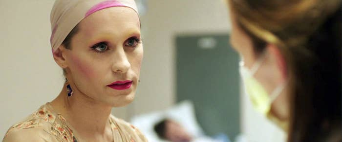 Jared Leto as Rayon without her wig.