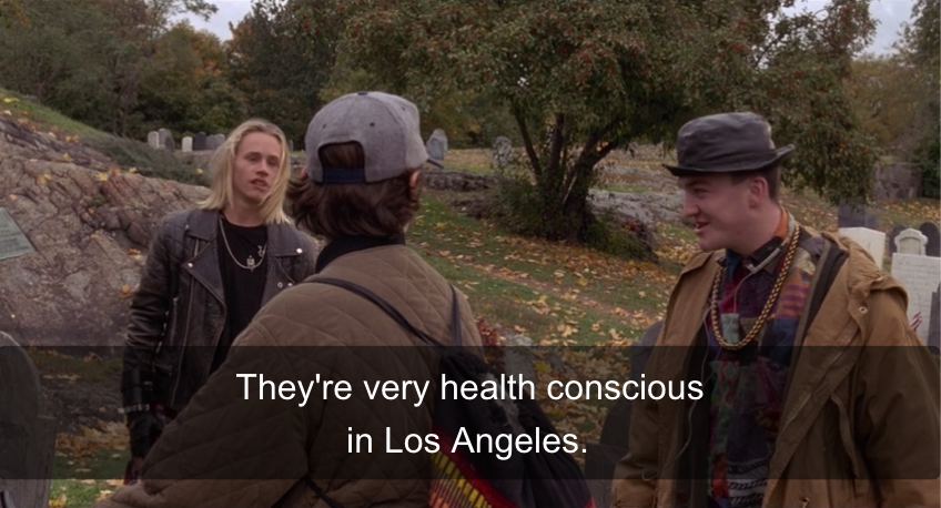 The Salem bullies making fun of Max in a graveyard.