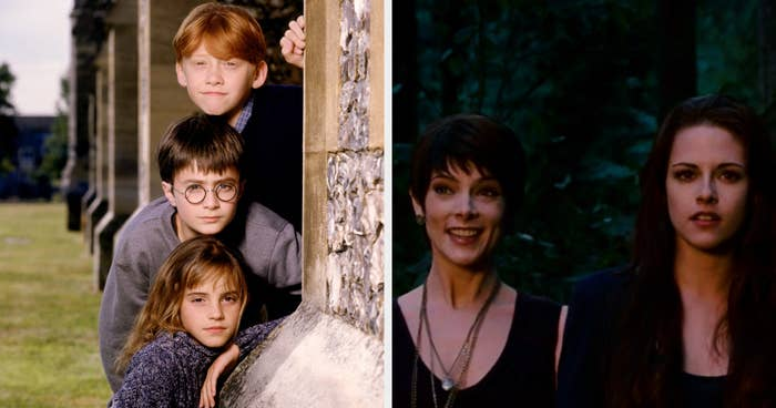 Ron, Harry, and Hermione, and Alice and Bella
