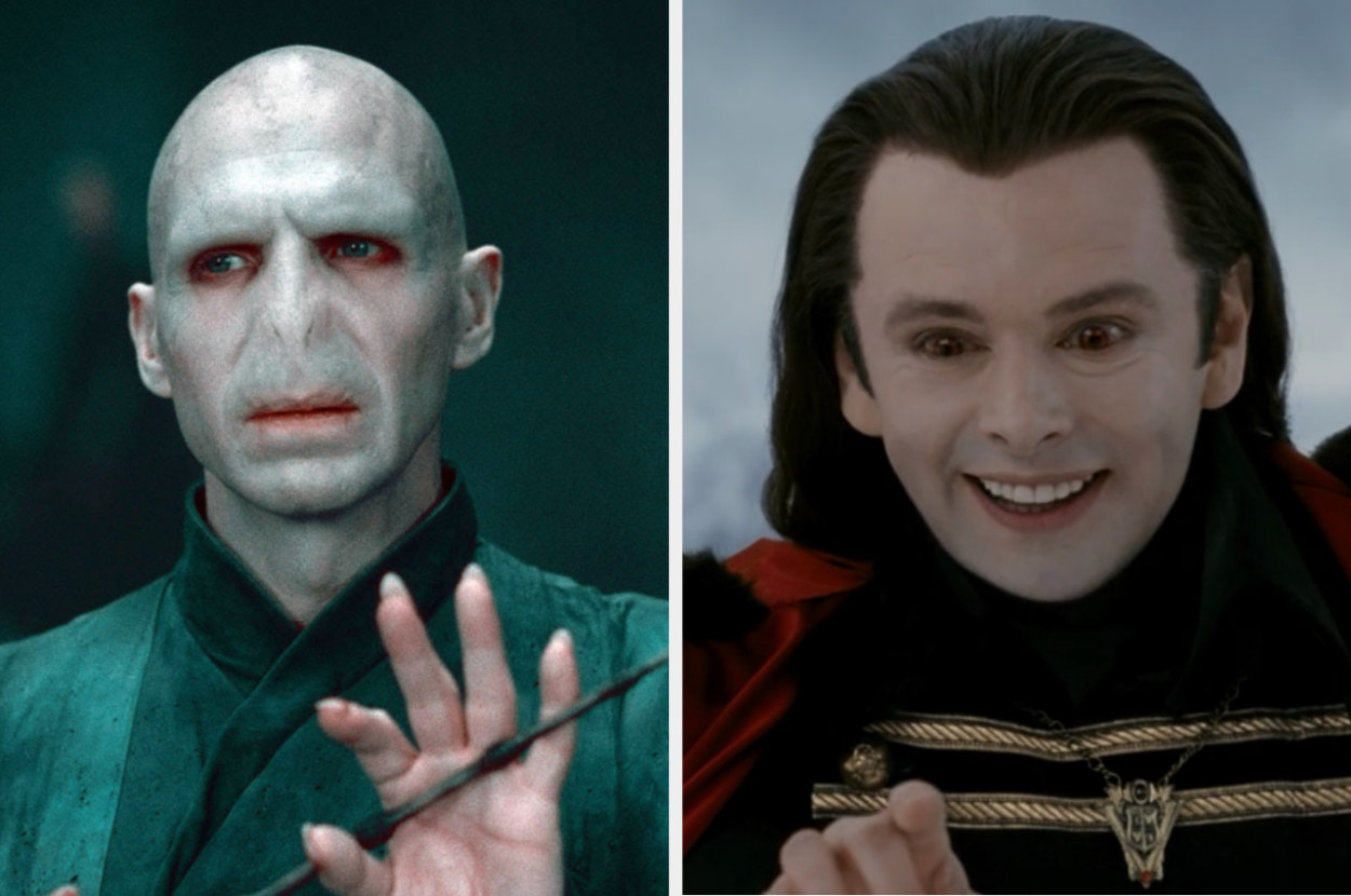 Voldemort holding his wand, and Aro laughing