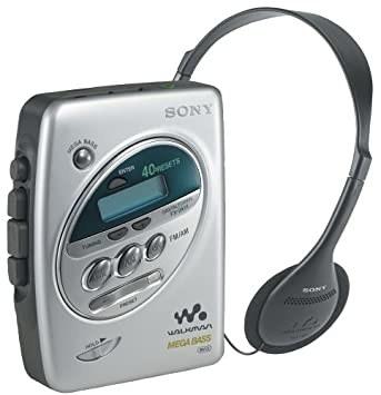 A 90s walkman and headphones