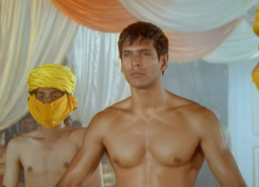 A hot milind soman in the music video for made in india