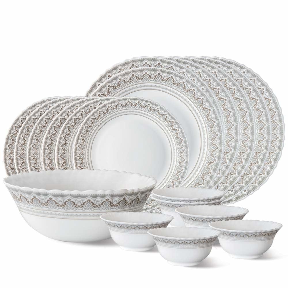 A plate and bowl set