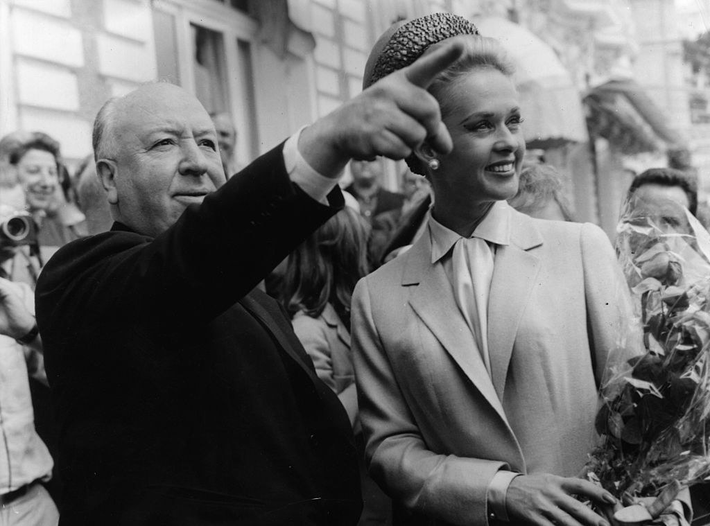 Tippi with The Birds director Alfred Hitchcock