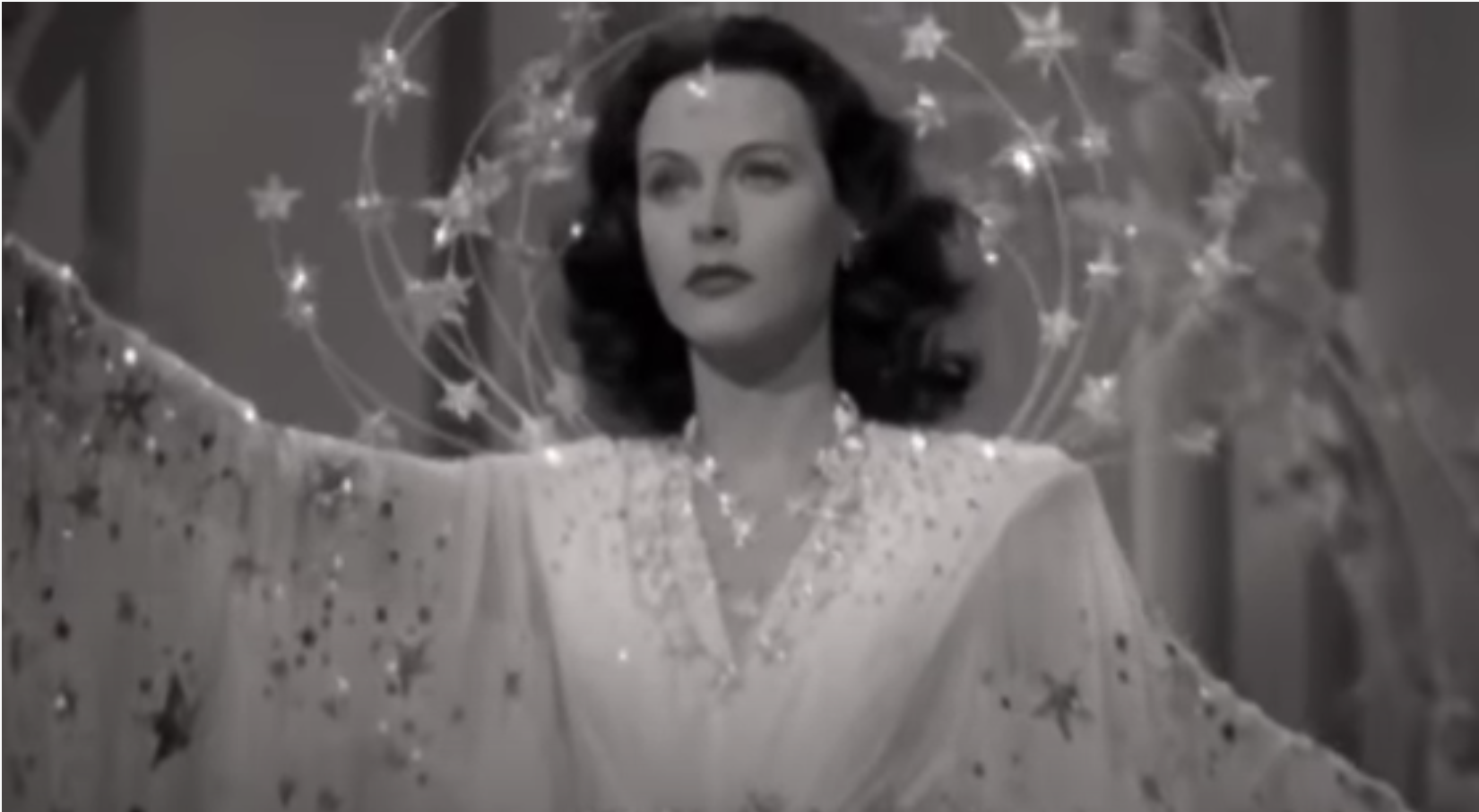 Hedy in a '40s era film