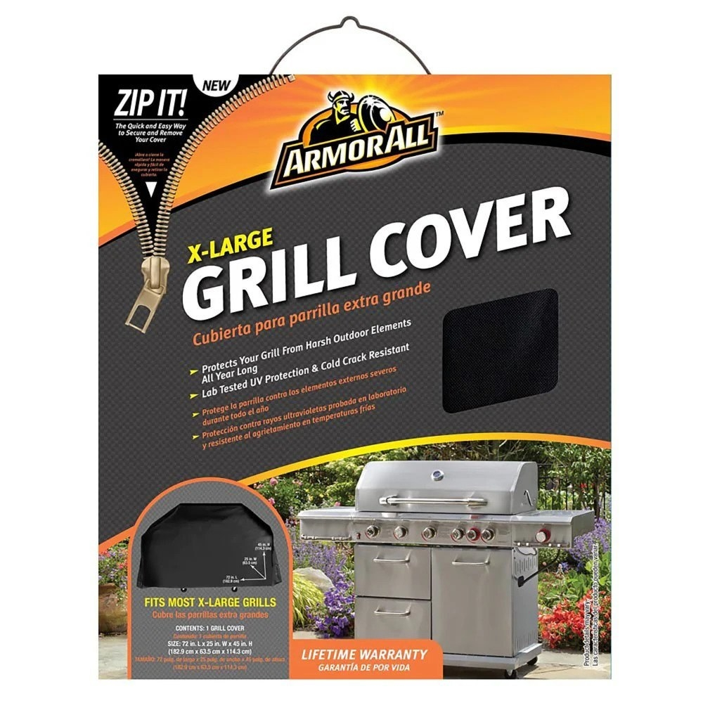 The black grill cover