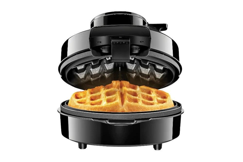 The waffle maker in black