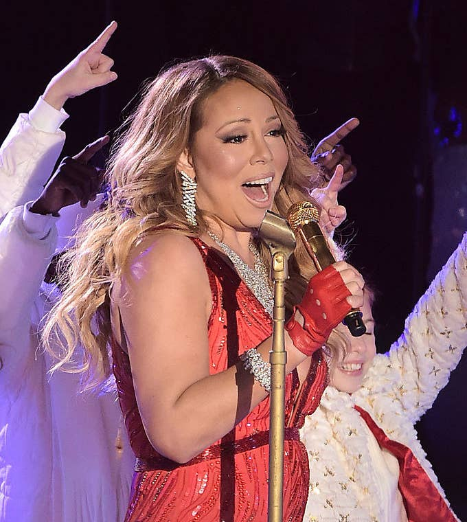 Mariah Carey performs at the annual Rockefeller Christmas Tree Lighting Ceremony