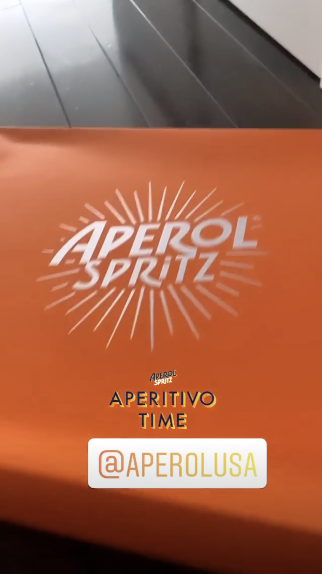 Orange Aperol Spritz box