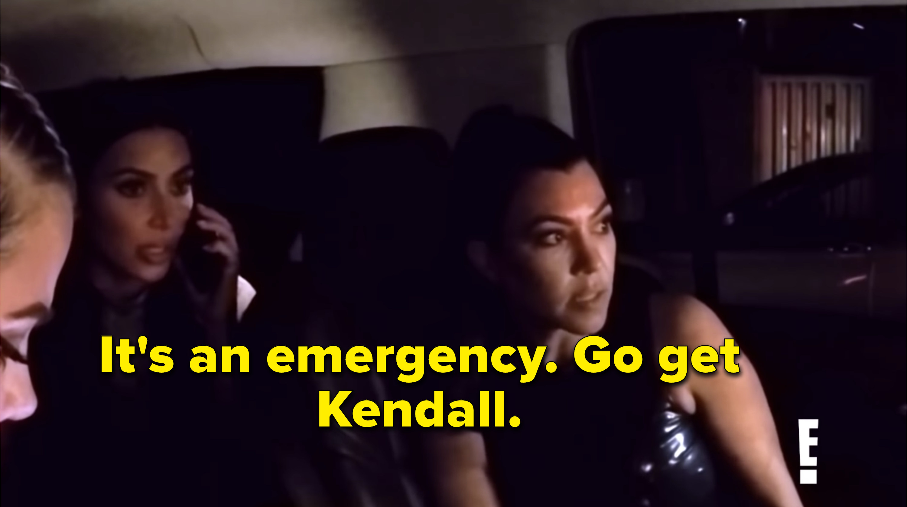 Kim telling security to go get Kendall